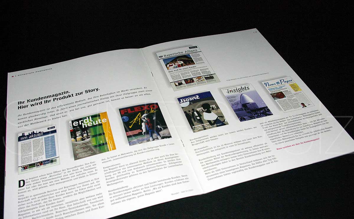 Seitenlayout Corporate Publishing aus Kundenmagazin MundArt
